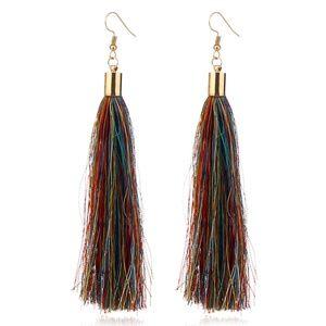 Jewelry - NEW boho multi color tassel earrings